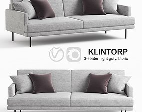 Ikea KLINTORP sofa gray fabric 3D