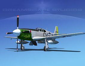 3D North American P-51B Mustang V04