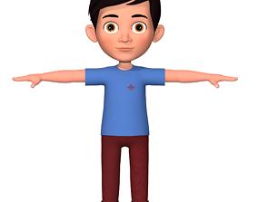 kids Cartoon Boy 3D model