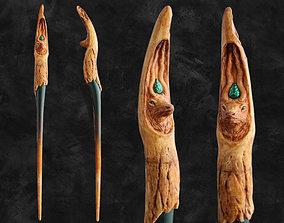 3D print model Elk Wood Wand - Spirit Animal