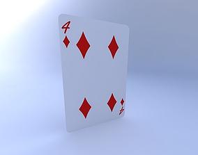 Four of Diamonds 3D