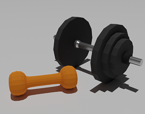 3D model Dumbbell and weight