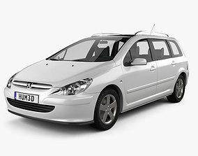 3D model Peugeot 307 SW 2001