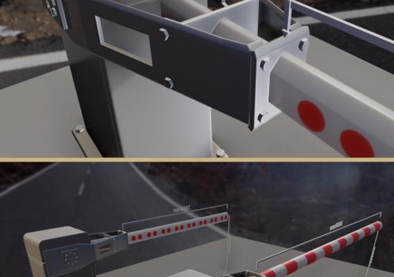 Modern Railway Barriers Set (WIP-2) Blender-2.91 Eevee