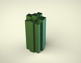 3D printable model Block Columns Candle Silicone Mold