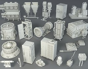 Factory Units 2 - 20 pieces 3D model