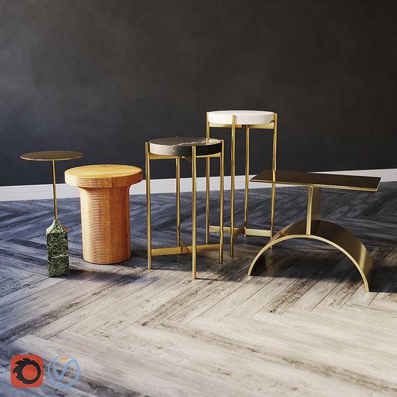Side Tables . Set 02