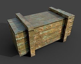 game Wooden box 3D model game-ready