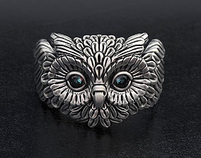 3D printable model Cute Owl Ring