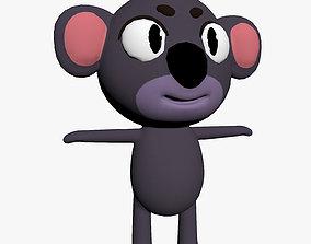Cartoon Koala Character 3D model