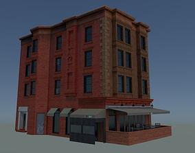 NYC corner building with restaurant 3D model