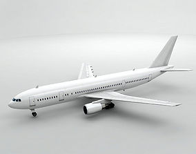 3D asset Airbus A300-600 Airliner - Generic