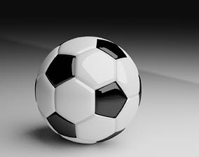 Soccer Football 3D model game-ready