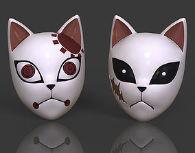 3D print model Demon Slayer Kimetsu no Yaiba 3 Masks 3