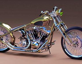3D HARLEY DAVIDSON BOBBER WITH SHOVELHEAD ENGINE