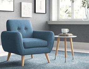 3D Minneola Wide Tufted Armchair