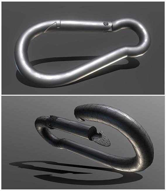 Clean Carabiner - Karabinerhaken (Low-Poly)