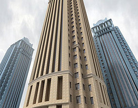 Detailed Office Tower 3D