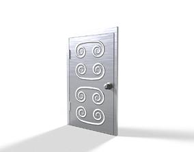 3D asset VR / AR ready steel door