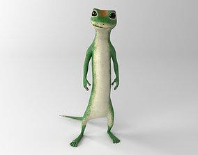 Gecko 3D asset realtime PBR