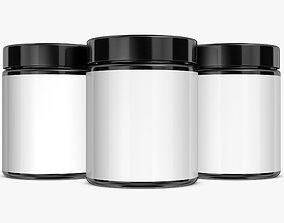 3D Jar with Label and Cover