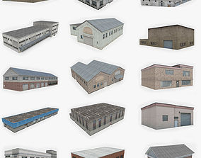 3D asset low-poly 15 Industrial Building Collection 1