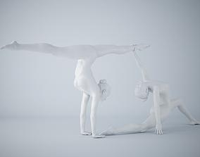 3D print model Two-Person yoga pose 012