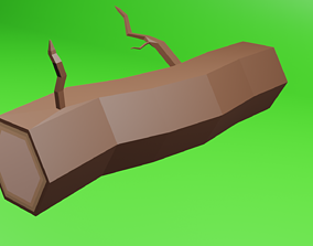 Low polly wood 3D asset