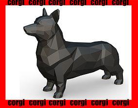 Corgi low poly 3D printable model