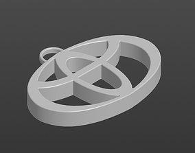 3D print model Logo Toyota Keychain