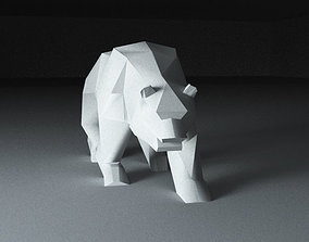 3D printable model Bear low poly