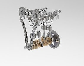 Crankshaft piston movement 3D