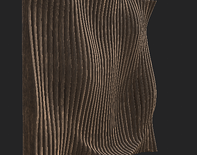 Curve parametric wall wooden 3D model