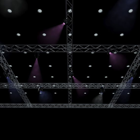 Big Square Truss-Stage Lights