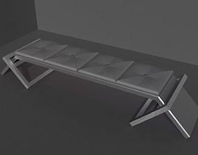 3D asset Sophisticated bench