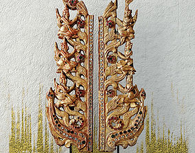 3D model Antique Burmese Wooden Fragments