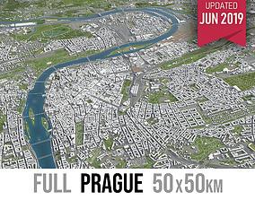 Prague - city and surroundings 3D asset