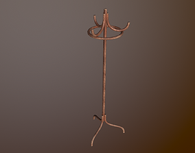 Old coat hanger 3D model