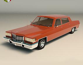 3D asset Low Poly Sedan Car 09