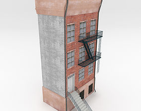 Apartment Building 3D model game-ready