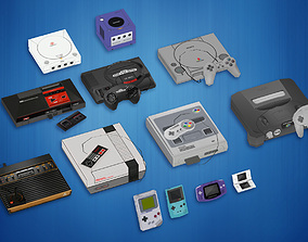 3D model 13 Video Game Consoles Pack