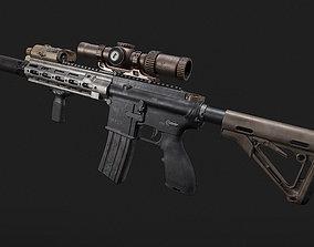 hk 416 AR 3D asset PBR