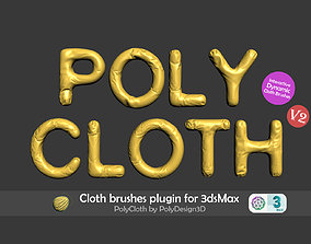 PolyCloth V2 ClothBrush Plugin for 3dsMax