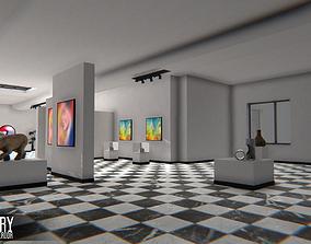 3D model Gallery - modular interior