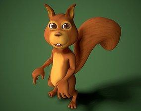cartoon squirrel 3D model animated