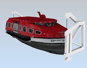 Life boats of the WORLD DREAM 3d model lowpoly low-poly