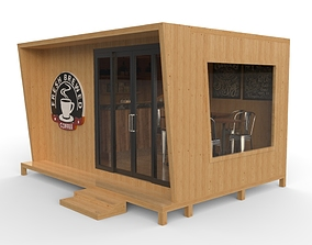 3D model Coffee Box Small Cafe