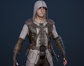 Assassin Secretive 3D asset animated