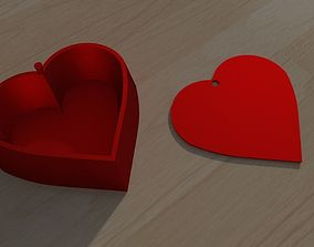 3D printable model Heart box simple