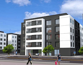 residential building 3D asset